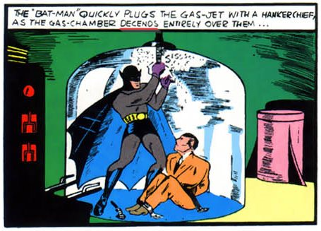 Detective Comics #27 p.05 Descends (05.1939)